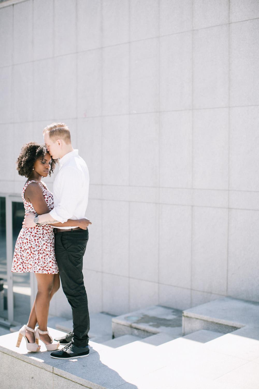 Engagement photo shoot, Kunstberg, Brussels