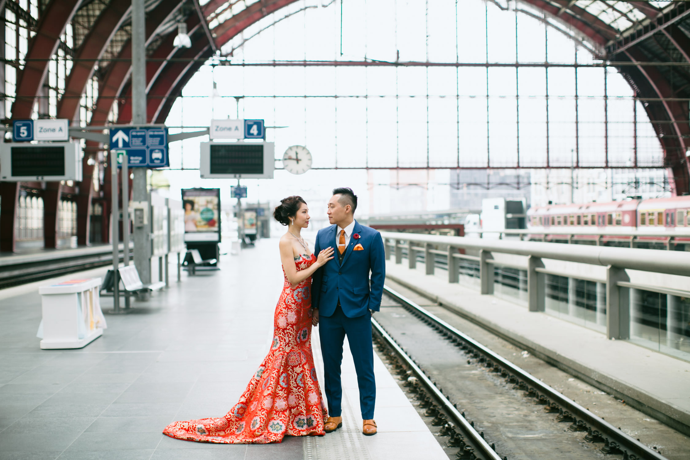 Couple shoot, Central Station, Antwerp