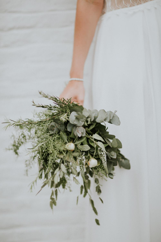 Leuk huwelijksboeket bohemian huwelijk