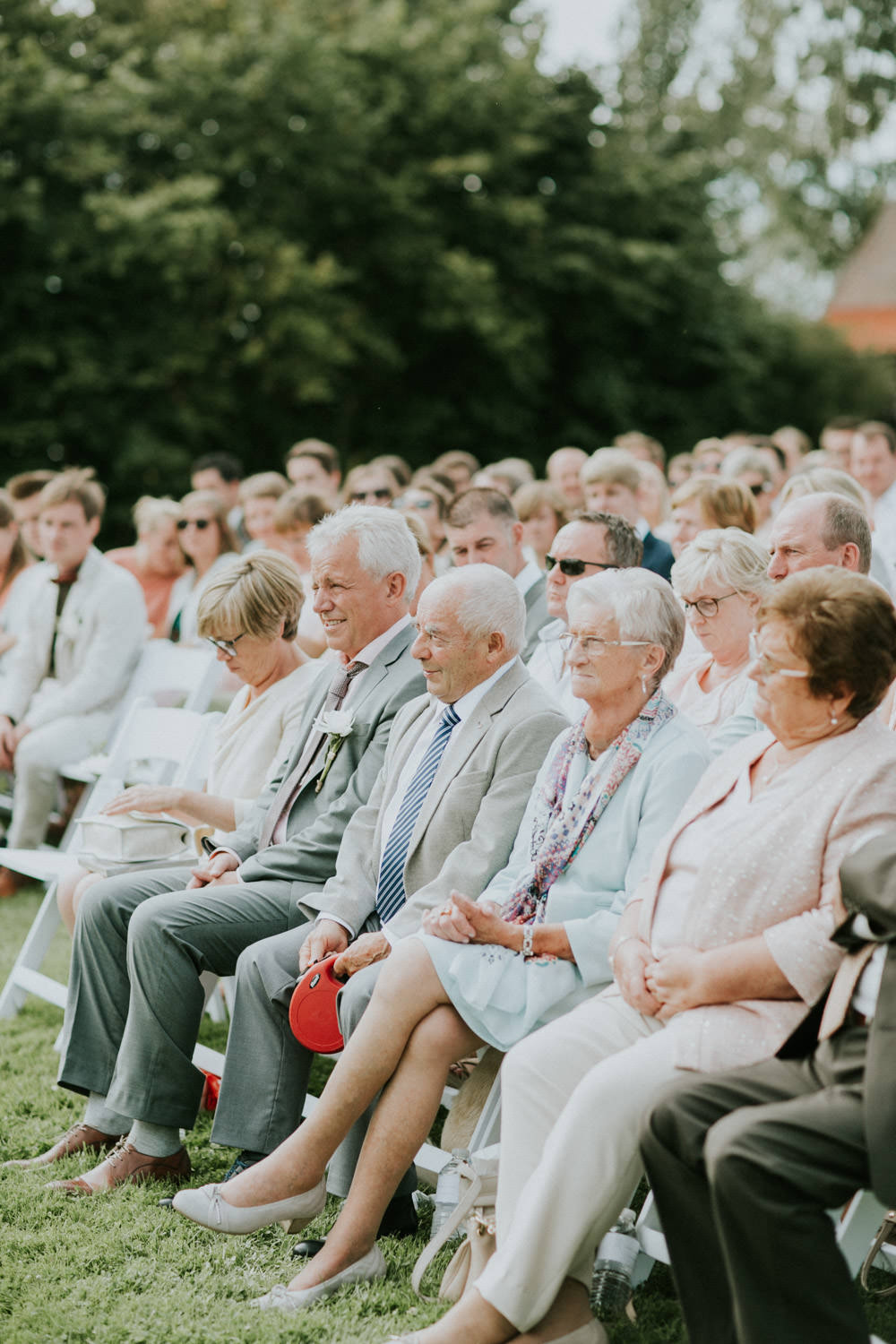 Wedding ceremony by Stories by Mabel at Hoeve Engelendael, Sint-Laureins
