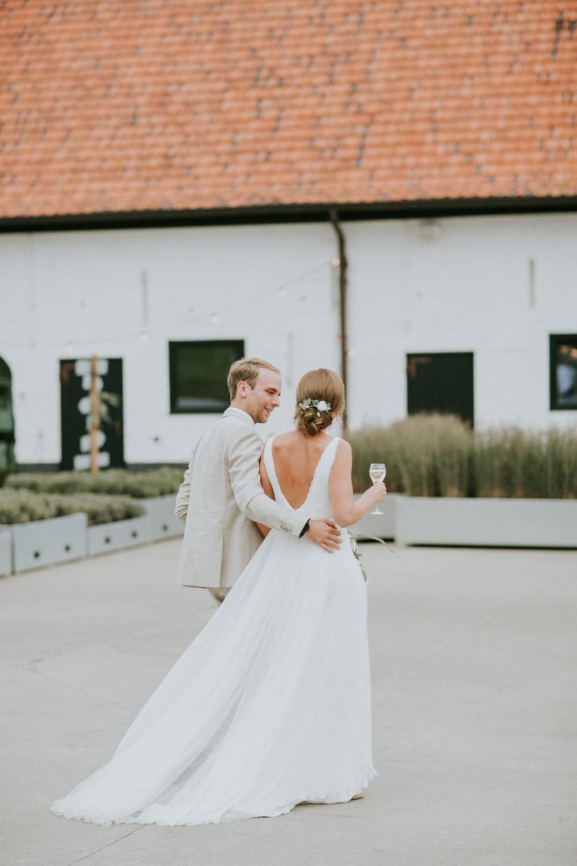 Fotosessie huwelijk Hoeve Engelendael, Sint-Laureins