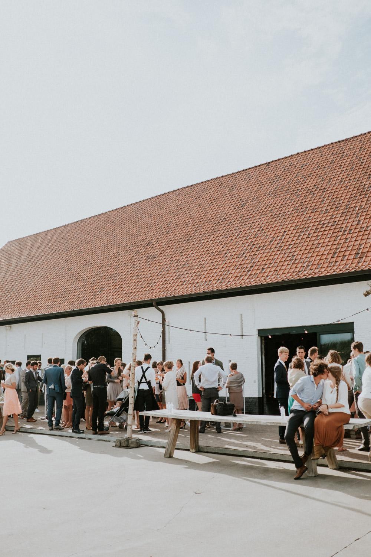Receptie huwelijk Hoeve Engelendael, Sint-Laureins