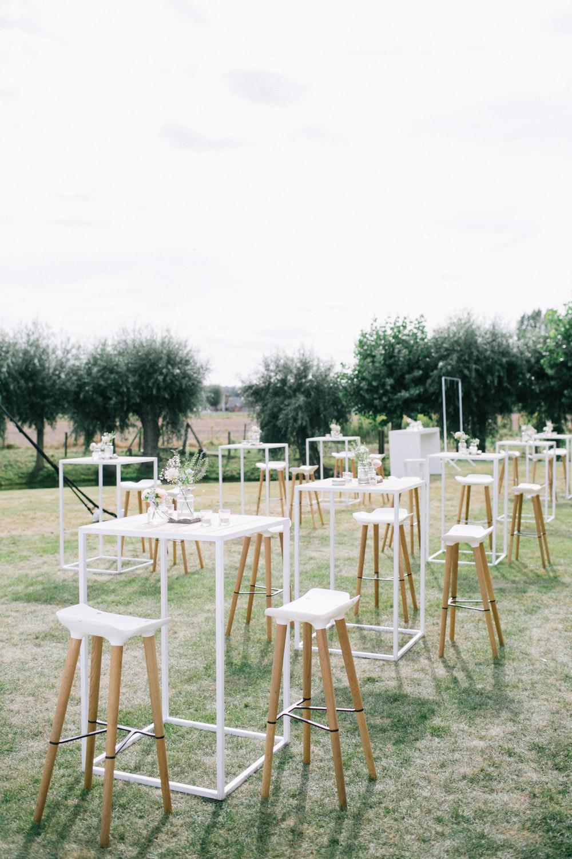 Feestzaal 't-Goed Indoye, Wevelgem, tafels receptie huwelijk