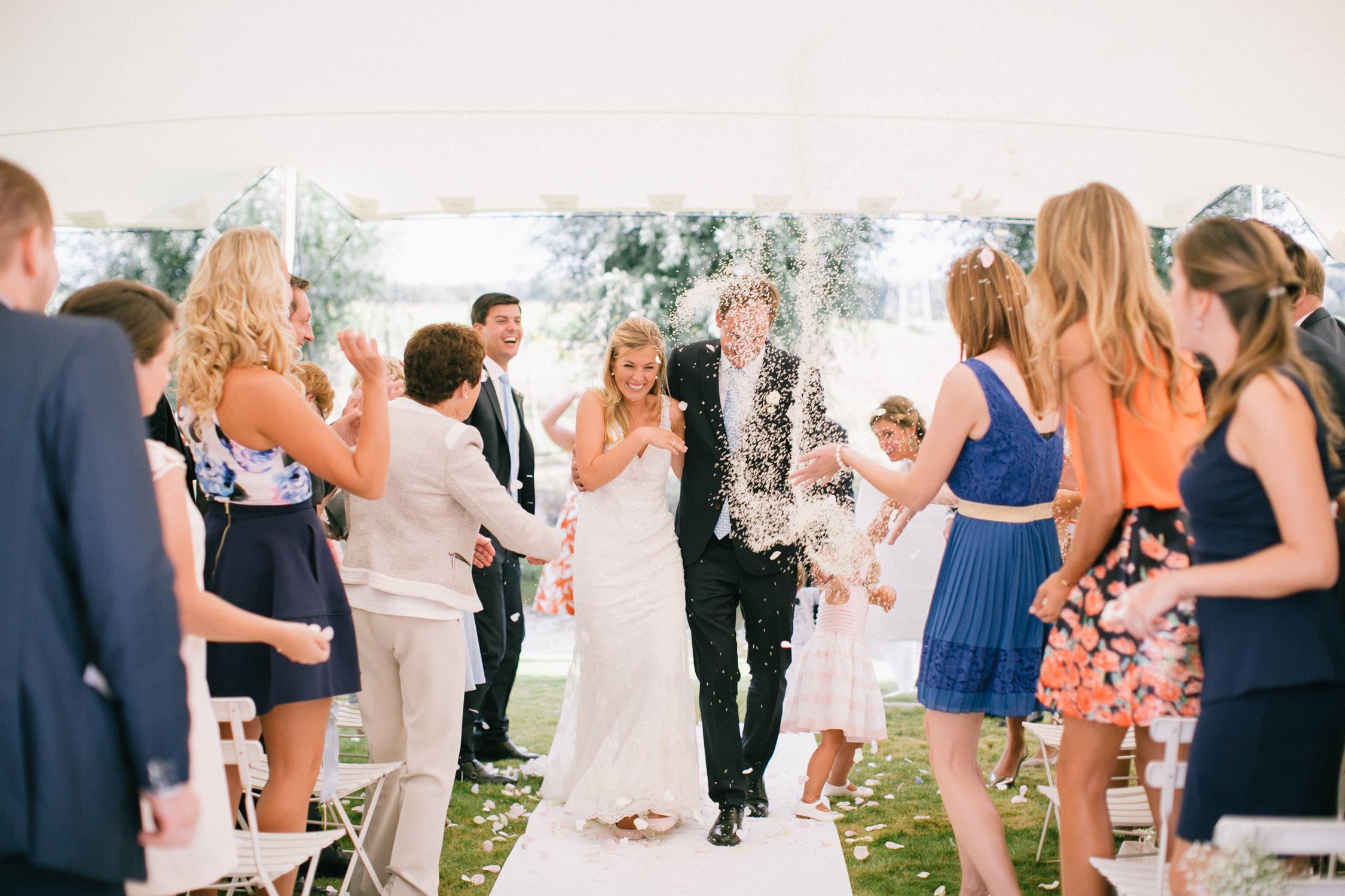 Huwelijksceremonie in 't-Goed Indoye, Wevelgem