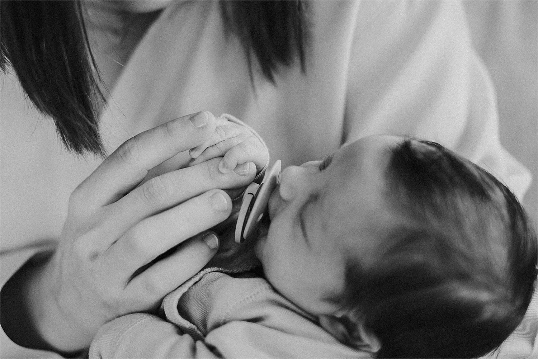 Newborn fotoshoot thuis Gent