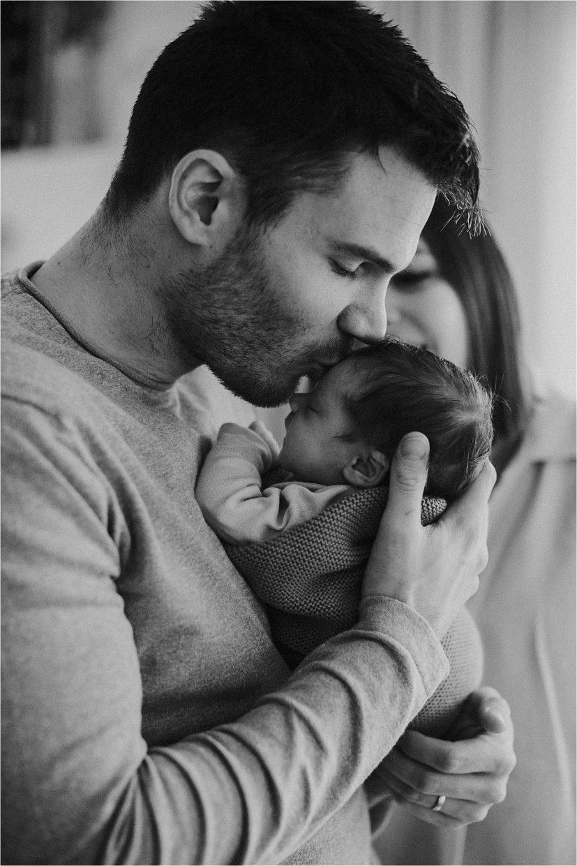 Baby met papa