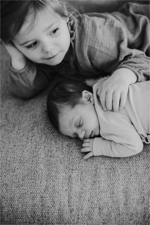 Newborn fotografie zusjes